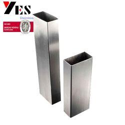 La norme ASTM A554 JIS G3446 316L Tube en acier inoxydable 1.4406 Rectangle qualité primaire