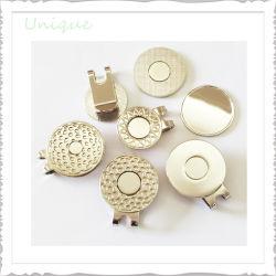 De façon personnalisée Metal Crafts Silver Gold Golf encoche Outil Marqueur de Balle de l'aimant+ Hat Cap Clip