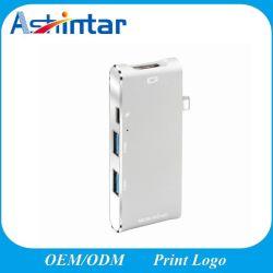 3.1 USB Tipo C adaptar el cubo 6 en 1 4K HDMI para Laptop Zoom tipo multifunción C Docking