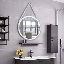 Witte Kleur Frame LEIDENE van de Badkamers van de Muur DIY D=600mm Hangende Spiegel met de Sensor van de Aanraking