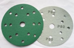 """6"""" 150mm Multi-Holes Cine verde de lijado de Velcro Disc-Abrasive disco de lija de cine"""