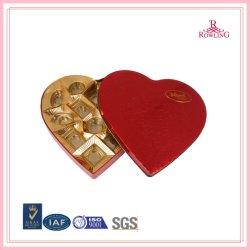 Красный в форме сердца шоколад подарочная упаковка/ Ресторан Chocolat конфеты Тин/Индивидуальные красного сердца шоколад сладкий подарочной упаковки .