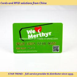Voll Bedruckte PVC-Karte mit Gold-/Silberprägung