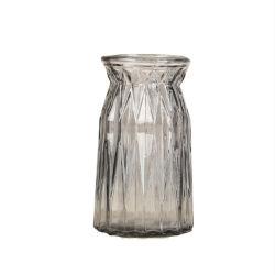 꽃 실린더 둥근 예술 공간 투명한 유리제 화병