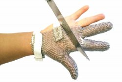 Trois doigts de gant de poignet en acier inoxydable