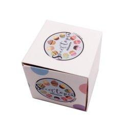 カスタマイズされたロゴの印刷のボール紙のFoldableカップケーキボックス包装ボックス引出しボックス