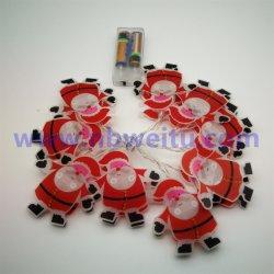 Indicatore luminoso Pendant della stringa del PVC del Babbo Natale LED della decorazione di natale