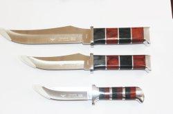 Bunter hölzerner Griff, Edelstahl-Schaufel, Fischerei-Messer-Jagd-Messer