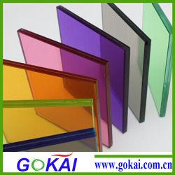 Ver a través de coloridos 2-10 mm material Acrilico PMMA Tablón de anuncios