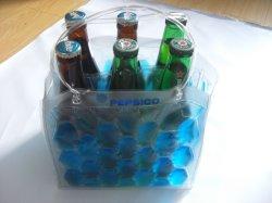 Beste verkaufende bunter Wein-abkühlende Halter-Plastiktasche für 6 Flaschen-Wein-Kühlvorrichtung-quadratische Unterseite mit Gefriermaschine