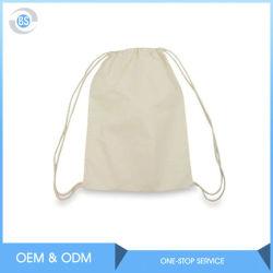習慣によって印刷されるロゴのキャンバスのリネン小さい有機性自然な綿のドローストリング袋