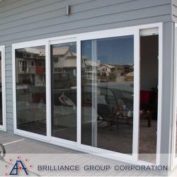 Алюминиевые раздвижные двери двойные стекла автоматический сдвижной двери датчика