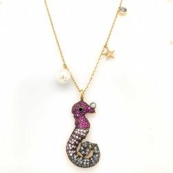 925 de zilveren 14K 18K Gouden Juwelen van de Halsband van de Manier Dierlijke