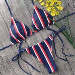 Streifen-reizvoller Wäsche-Bikini-Badebekleidungs-Bikini für Frauen