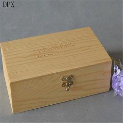 Les pièces Boîte en bois Boîte cadeau Emballage en bois de la boîte de rangement en bois de gros boîte cadeau velours boîte à bijoux avec