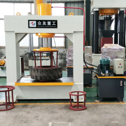 産業フォークリフトの固体タイヤのタイヤ油圧出版物機械