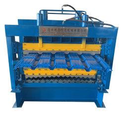 다른 색깔 금속 강철 제품 기와를 만드는 새로운 대중적인 세번째 단계 층 루핑 장은 형성을 냉각 압연해 고속을%s 가진 기계를 만든