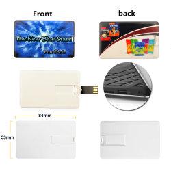 Resistente al agua de la tarjeta de memoria Flash Pendrive 32GB/16GB/8GB Tarjeta de crédito del Banco de la unidad flash USB Pen Drive Flash Stick (TF-0371)