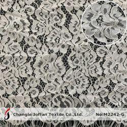 Bordados de moda Lace Nylon Fabric vestido de noiva rendas de tecido (M2242-G)