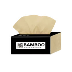 Commerce de gros gaufré Personnalisé Papier de pâte de bambou Mouchoirs de papier