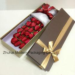 Nuevo diseño personalizado gris de la fabricación de papel de regalo de la Junta de verificación \Caja de regalo de Navidad \regalo de flores mostrar cajas con cinta de embalaje