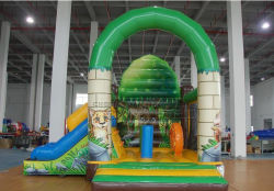 Cheer Amusement Jungle Diapositive Combo Inflatable Bouncers