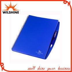 A4 PP couvrir l'ordinateur portable en spirale avec stylo pour le commerce de gros (PPN221)