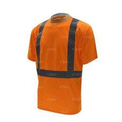 تصميم الياقة الضليفة مع قميص ذات عاكس مختلط بتصميم الرجال قميص أمان للرجال العمل عالي الوضوح قميص الحماية الشخصية