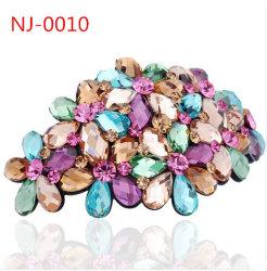 Accessori a cristallo della clip della forcella dei fiori (NJ-0010)