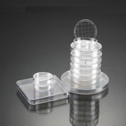 セリウム公認の使い捨て可能なプラスチック文化ペトリ皿