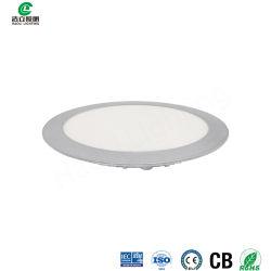 Panneau LED rond encastré 12 W réglable en 3 étapes CRI 80, PF0.9, 100lm/W plafonnier réglable 3 CCT avec RoHS ce pour salon