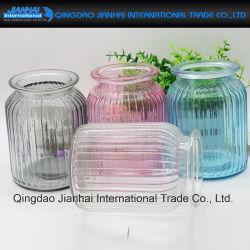 Vase en verre de bande pour la maison d'art de décoration et don