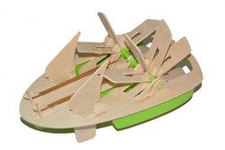 Jeu de construction de bateau en bois