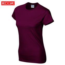 Verão a impressão de tela em branco Promocional Custom camiseta para Mulheres