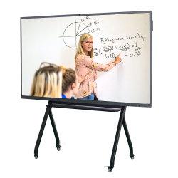 멀티 쓰기 OPS 슬롯 적외선 터치 스크린 보드 4K HD 86인치 스마트 대화형 평면 패널 디스플레이
