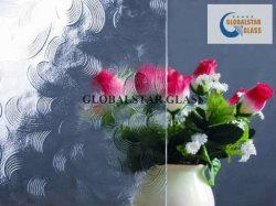 3mm, 4mm, 5mm, 6mm gekopiertes Glas mögen Glas des Floatglas-Spiegel-blühen Dusche-Wand-bereiftes Glas-Glassatin-Glasflora-Karatachi/Nashiji/