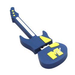 Мини-гитара USB флэш-диска из ПВХ, принять специального проекта
