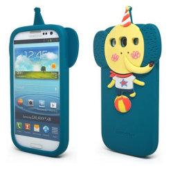 Het mooie Geval van de Telefoon van het Silicone van de Olifant Mobiele voor de Melkweg van Samsung
