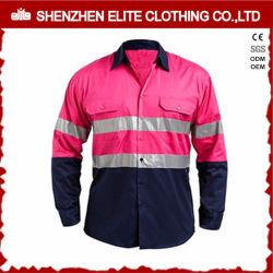 Uniformi delle camice del lavoro di colore rosa di sicurezza della Cina Nanufacturer (ELTHVSI-3)