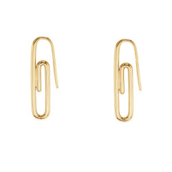 Горячая продажа 925 серебристые женщин украшения минималистский 18k позолоченными контактами моды скрепки серьги