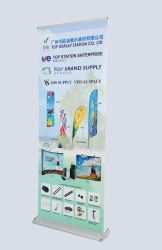 Гуанчжоу производителя нет MOQ разорванные алюминиевого сплава широкое основание подставка для дисплея 80*200см складной рулон баннер