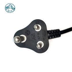 Isolierendes Gummistecker-flexibles Gumminetzkabel des umhüllungen-Energien-Kabel-3pin