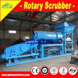 Lavatrice alluvionale di estrazione mineraria dell'argilla che vibra lo schermo rotativo del crivello a tamburo dell'impianto di lavaggio