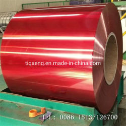 Feuille en aluminium gaufré de stuc/PVDF PE prépeint bobine d'acier en aluminium à revêtement de couleur