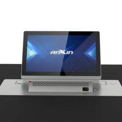 초박형 Motrized15.6''/17.3'' LCD 모니터 리프트 숨겨진 플립업 어레이 포함 오디오 비디오 회의 시스템용 마이크