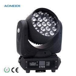 RGBW 4 1 19PCS 15W LED Summen-in den beweglichen Hauptwäsche-Stadiums-Lichtern
