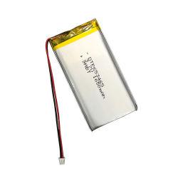Commerce de gros 3,7 V haute capacité bouton au lithium-polymère rechargeable Li-ion Batterie Lipo ultra mince