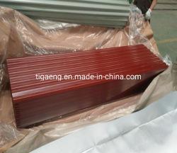 Decorative Material Métal en feuille de toiture en carton ondulé Prepaint galvanisé Feuille de toit