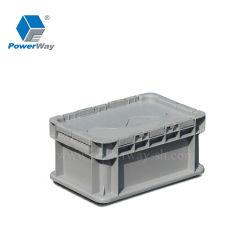 El PP de apilamiento de movimiento de la logística de la Caja contenedor de almacenamiento de los cuadros de Tote de plástico
