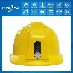 Dos vías de transmisión de video GPS de intercomunicación Inalámbrica de 4G de almacenamiento inteligente de la construcción del casco de seguridad